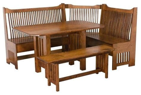 Dining Nook Furniture mission breakfast nook set traditional dining tables