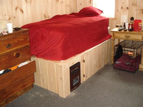 build bedroom furniture raised cabin bed frame with hidden space