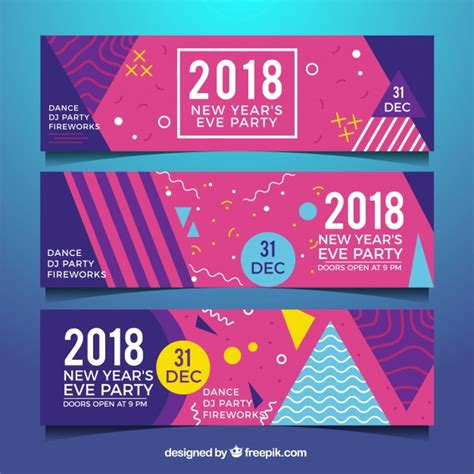 new year 2018 vector new year 2018 banners vector free
