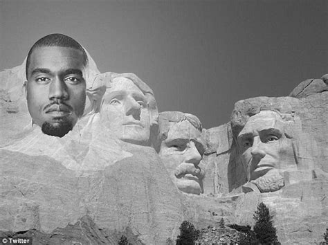 Kanye West S Fame Could Help Caign For The White House Daily Mail Online Mount Rushmore Photoshop Template