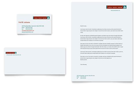 A Bank Letterhead Credit Union Bank Business Card Letterhead Template Design