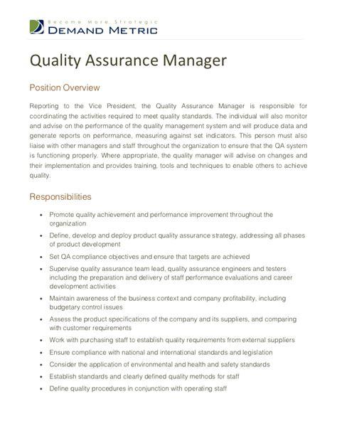 Qa Manager Resume Sample   BestSellerBookDB