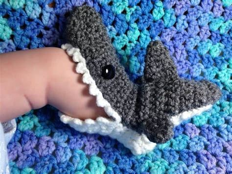 shark crochet slippers shark crochet the best collection of free patterns the whoot