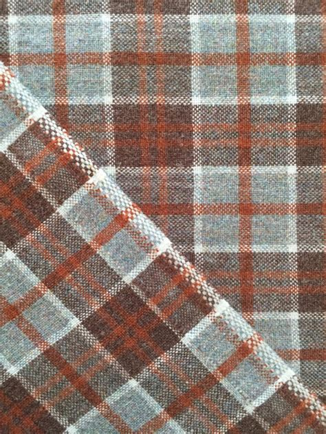 pendleton upholstery fabric vintage 70s tartan plaid pendleton wool fabric from