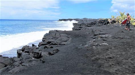 black sand punalu u black sand beach unique hawaii beaches