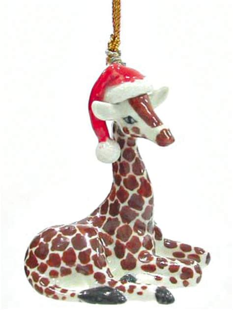 northern rose porcelain christmas tree decoration giraffe