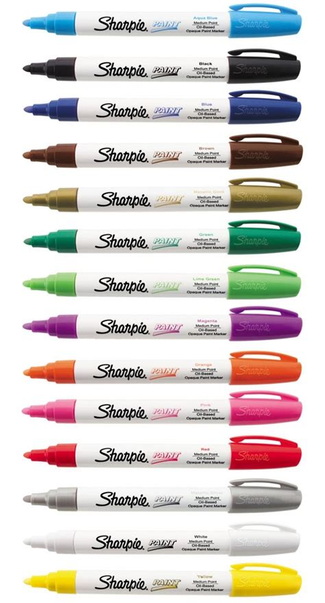 sharpie paint marker medium tip pens based most surfaces indoor outdoor