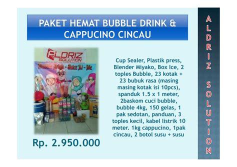 Paket Hemat 150 000 paket kemitraan cappucino cincau franchise drink cappucino cincau