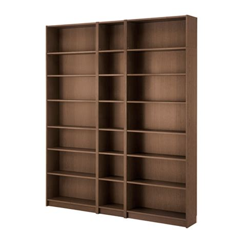 Rak Buku Ikea billy rak buku cokelat veneer kayu ash 200x237x28 cm ikea