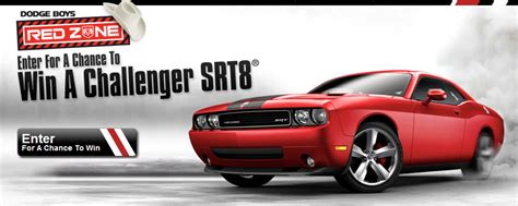 Dodge Sweepstakes - dodge boys red zone dodge challenger srt8 sweepstakes