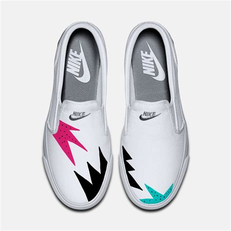 womens nike slip on sneakers mens and womens custom nike toki slip on canvas sneakers