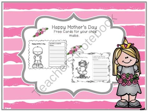 preschool mothers day card template 131 best images about slp s day freebies on