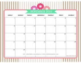 Pretty Calendar Template by November 2015 Calendar Pretty Calendar Template 2016
