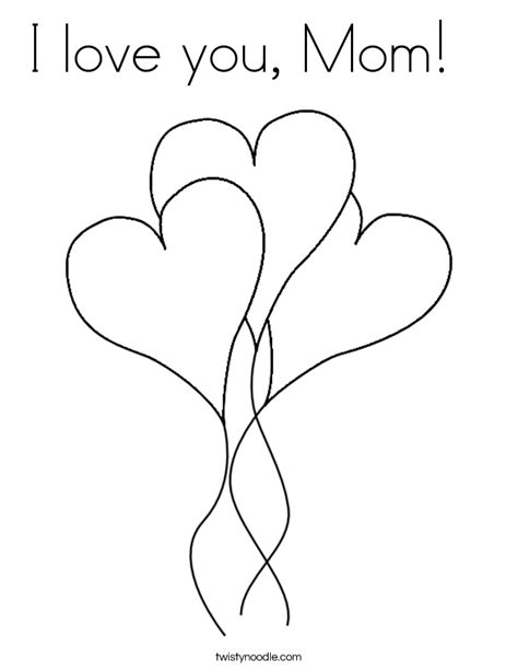 coloring pages that say i love you mom and dad i love you mom coloring pages