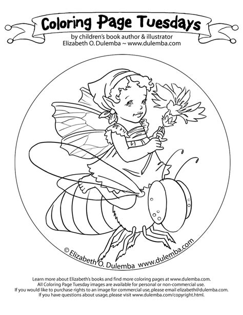 coloring page tuesday dulemba coloring page tuesday bee ride
