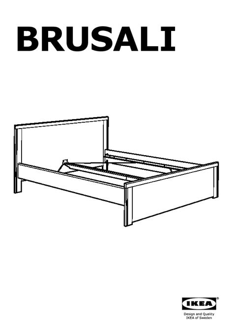 Brusali Bed Frame With 4 Storage Boxes Brown Leirsund Brusali Bed Frame With 4 Storage Boxes