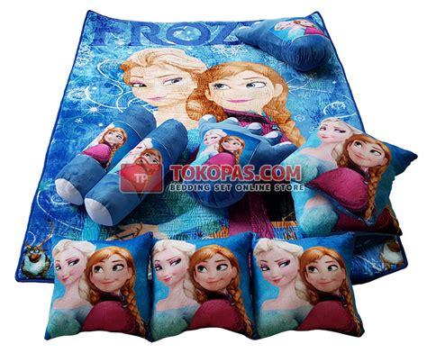 Karpet Frozen karpet selimut set karakter lembut motif kartun dewasa