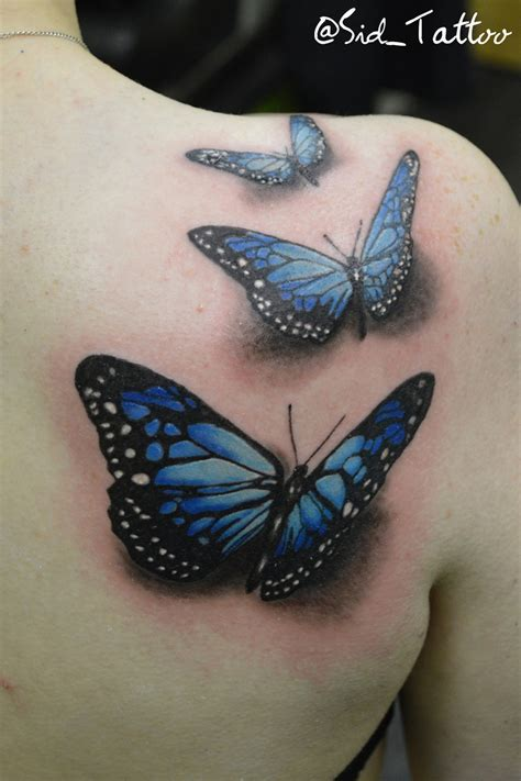 realistic butterfly tattoo 3d butterfly by sid on deviantart