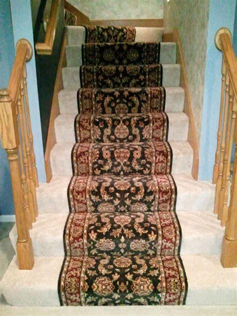 rug on top of rug stair runner installed carpet kansas city area rug