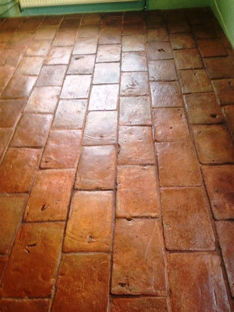 Quarry Tiles Quarry Tiled Floor Cleaned And Sealed In Ashtead East