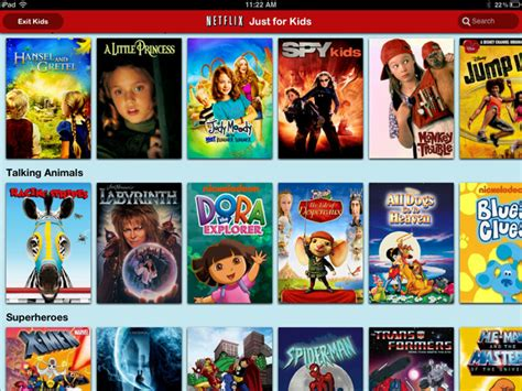 netflix adult section netflix for ipad gets just for kids section wired