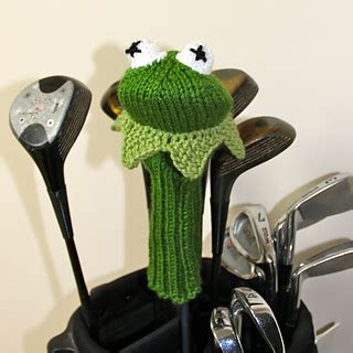 knitting pattern golf driver cover ravelry kermit the frog golf club cover pattern by tracey