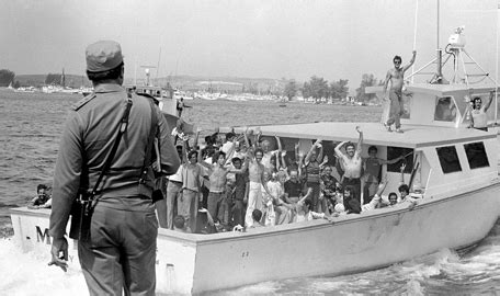 boat lift cuba on this day castro allows cubans to emigrate in mariel