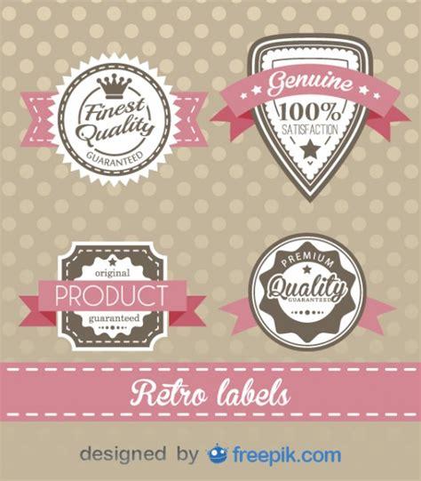 Etiketten Design Vorlage Retro Etiketten Design Der Kostenlosen Vektor