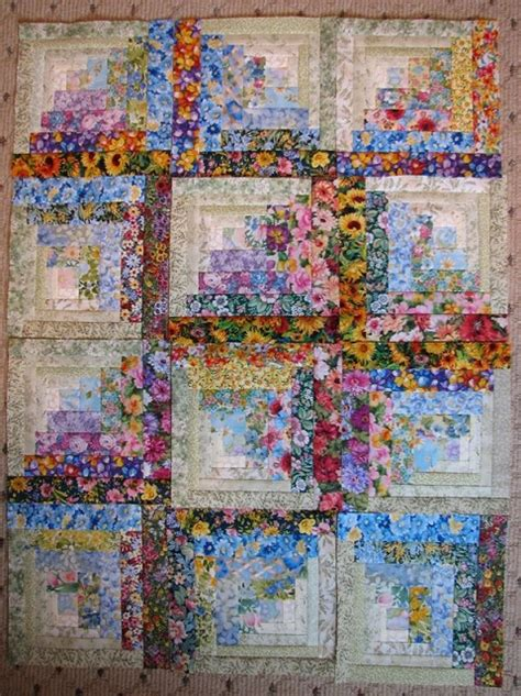 log cabin quilt floral fabric log cabin you won t need patience it s