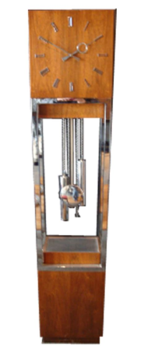mid century modern lighted grandfather clock ca