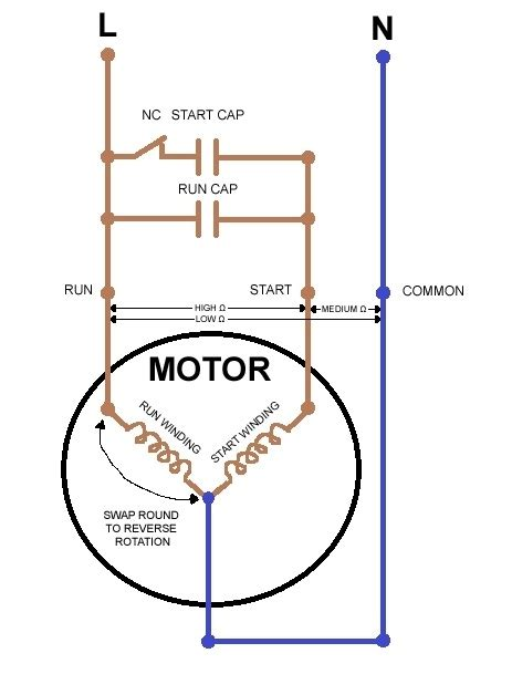 electric motor wiring diagram single phase 6 lead single