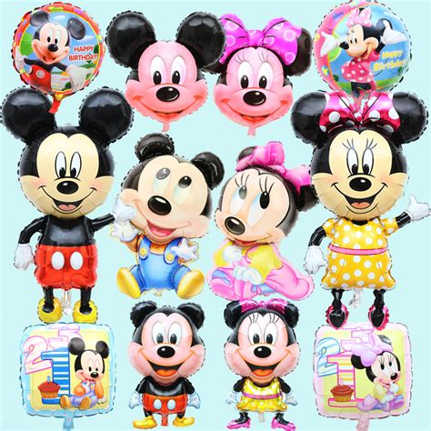 Balon Foil Pentungan Mickey Minnie new large small mickey minnie foil balloons