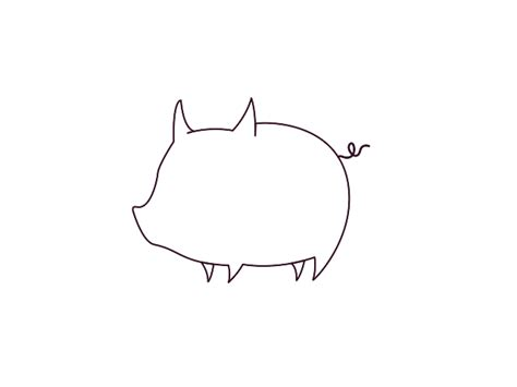 Pig Outline by Search Results For Pig Outline Template Calendar 2015