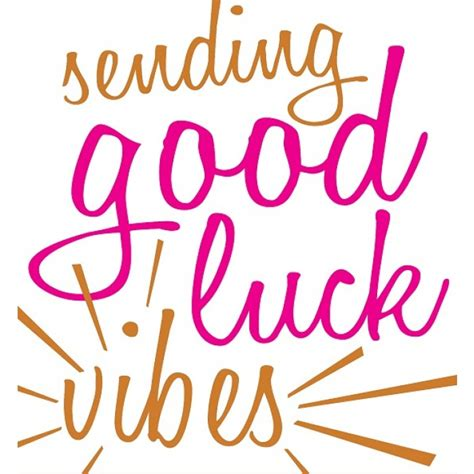 gud luck caroline gardner sending good luck vibes cards from