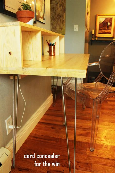 modern desk legs how to build a contemporary desk with shelf and hairpin legs