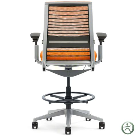 Drafting Stool With Back by Shop Steelcase Think Drafting Stools With 3d Knit Back