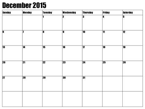 December 2015 Printable Calendar 2015 December Calendar Free Large Images