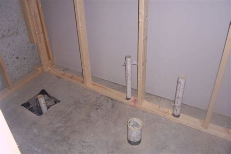 plumbing a basement bathroom basement bathroom