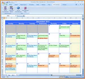 Calendar Of Events Template Excel by Microsoft Excel Event Calendar Calendar Template 2016