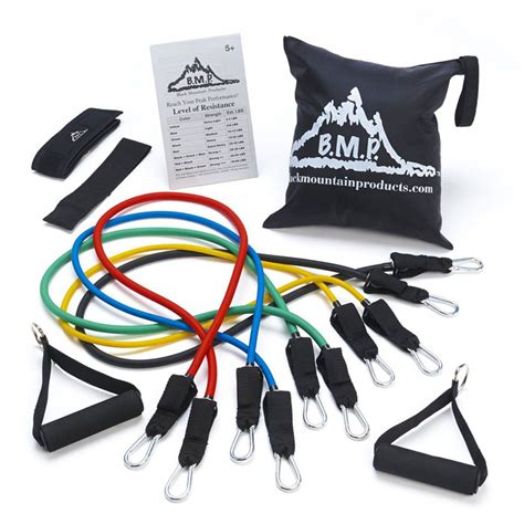 stackable resistance band set black mountain products