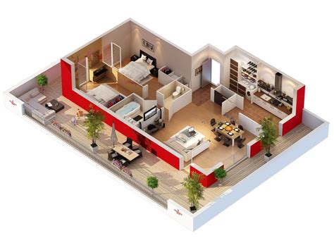 3d plans plans 3d d appartements studio multim 233 dia 3d at home