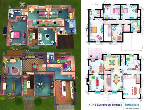 742 evergreen terrace floor plan outstanding floor plan of the simpsons house images best