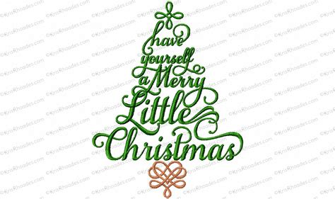 merry christmas tree embroidery design kris rhoades