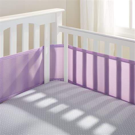 White Breathable Crib Bumper by Breathablebaby 174 Classic Mesh Crib Liners Breathablebaby