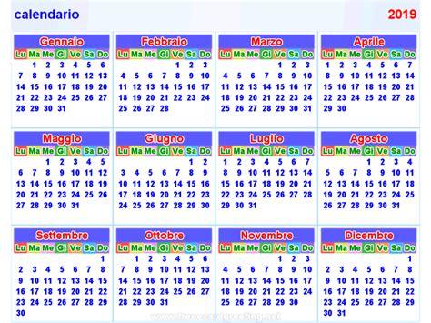 Calendã Feriados 2019 Calendario 2019 Orizzontale E Verticale