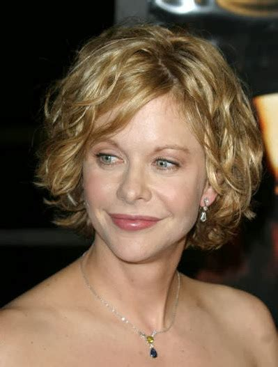 how is meg ryan short curly bob middle part cut trendy new short haircuts how to curl short hair