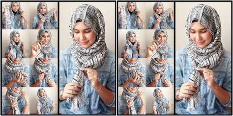 tutorial hijab paris simple tanpa jarum hijab jilbab yuk baca