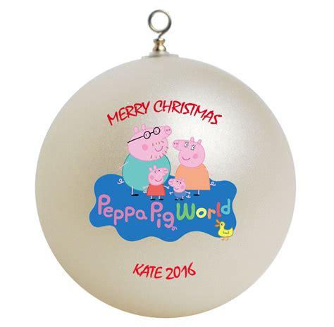 personalized peppa pig christmas ornament gift ornaments