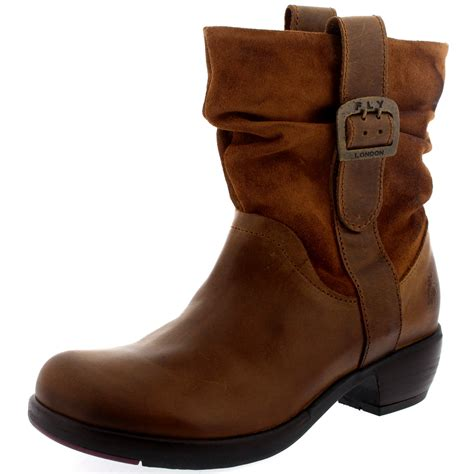 Sepatu Boots Cowboy Bikers Kulit Pull Up Premium Best Quality Product womens fly maha biker low heel pull on winter snow ankle boots uk 3 9 ebay