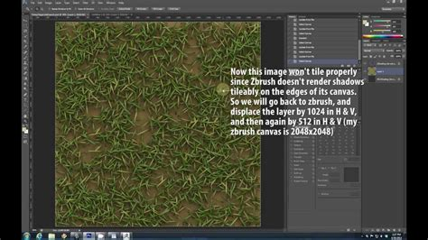 zbrush grass tutorial tiling grass tutorial youtube